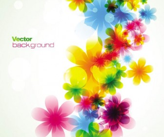Colorful Stylish flower background vector