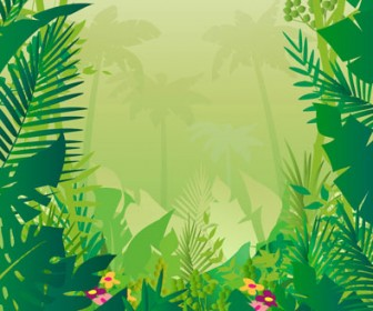 Jungle Vector Background