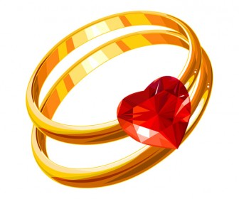 Wedding Rings Vector Art