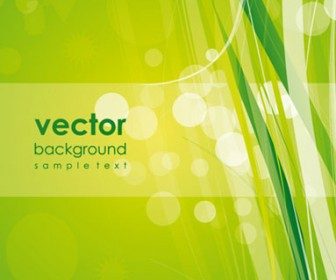Illustrations of Green Background Vector