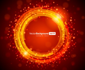 Red shiny circle vector
