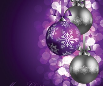 Christmas Ball and Bokeh Vector illustration